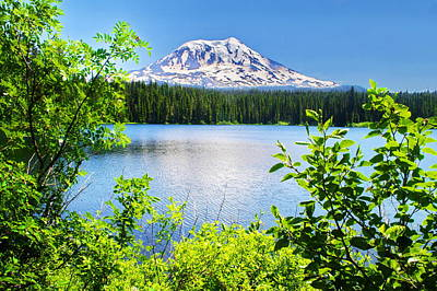 Mt Adams And Takhlakh Lake Art Print