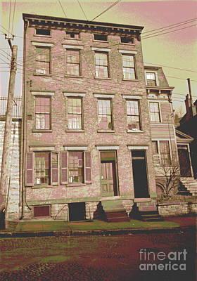 Telephone Poles Photograph - Mt. Adams Tenement by Padre Art