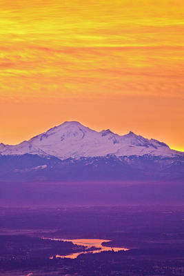 Mt. Baker And Fraser Valley Print by Christopher Kimmel