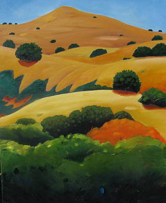 Painting - Mt Diablo From Danville by Gary Coleman