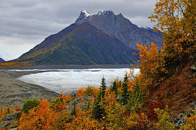 Photograph - Mt. Donoho And Root Glacier by Alan Lenk