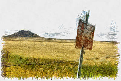 Mt Dora - Sketch Art Print by Nicholas Evans