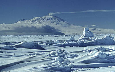 Erebus Photograph - Mt Erebus, 3795 M, With Volcanic Plume by Robin Smith