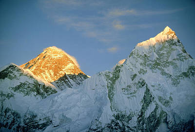 Mt Everest, (left Hand Side) Nepal Art Print by Mary Plage