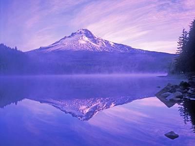 Mt. Hood And Trillium Lake Mt Hood Art Print by Dan Sherwood
