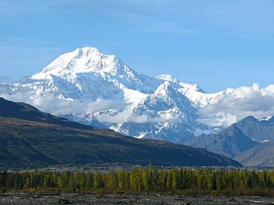 Sinrise Photograph - Mt Mckinley Alaska  by Sam Amato