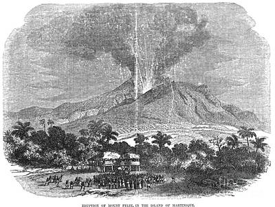 Photograph - Mt. Pelee Eruption, 1855 by Granger