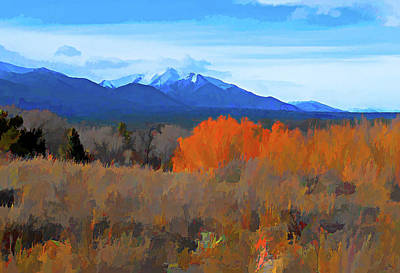 Digital Art - Mt Princeton by Charles Muhle