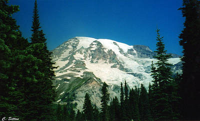 Photograph - Mt. Rainier 2 by C Sitton