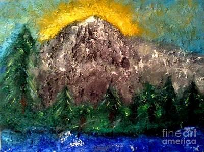 Painting - Mt. Rainier by J Von Ryan