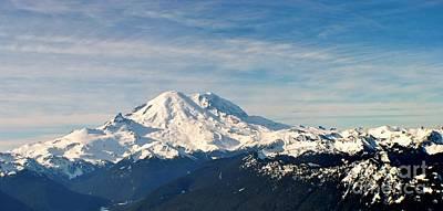 Mt Rainier Panoram Art Print