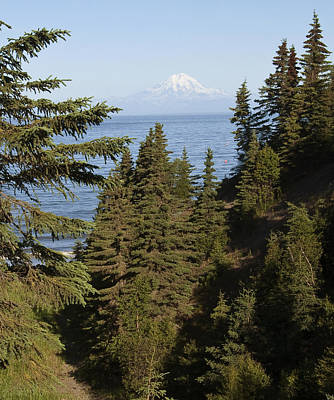Photograph - Mt Redoubt by George Hawkins