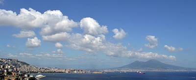 Photograph - Mt Vesuvisus And The Bay Of Naples. by Terence Davis