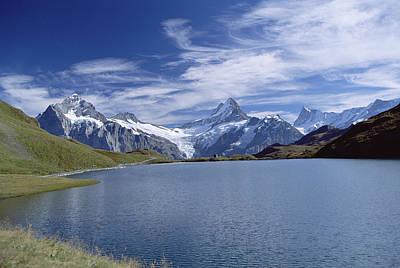 Mount Wetterhorn Photograph - Mt Wetterhorn And Mt Schreckhorn, Alps by Konrad Wothe