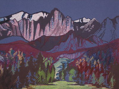 Mixed Media - Mt Whitney by Barbara Prestridge