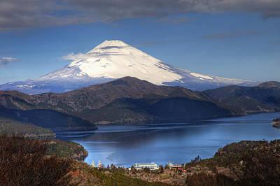 Mt.fuji And Lake Ashinoko-ii Art Print by Tad Kanazaki