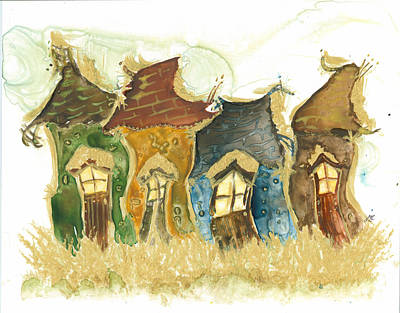 Neighbourhoods Painting - Much More Gold by Janet Whitehead