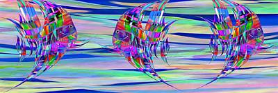 Digital Art - Mucho Pescado Aqui by Wally Boggus