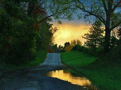 Northern Virginia Photograph - Mud Puddle Road by Joyce Kimble Smith