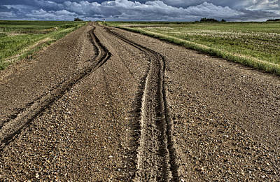 Soil Digital Art - Mud Tire Tracks by Mark Duffy