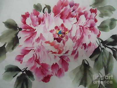 Mudan Art Print by Dongling Sun