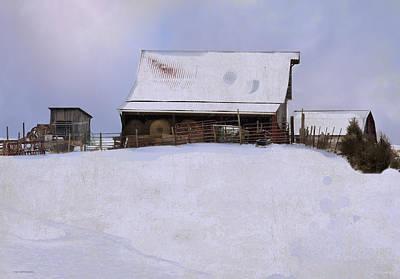 Barn Digital Art - Mueller's Barn by Ron Jones