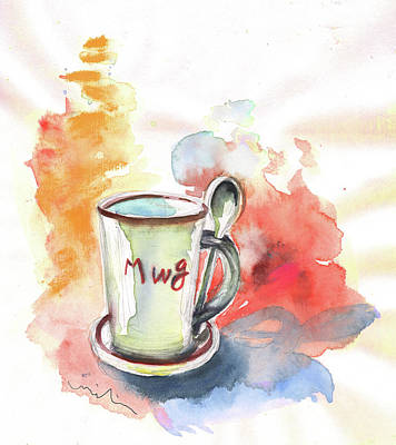 Painting - Mug by Miki De Goodaboom