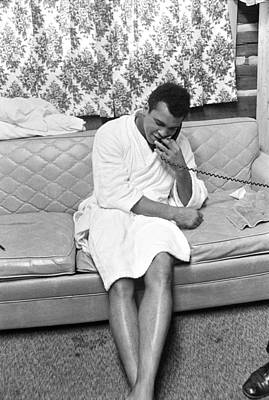 Photograph - Muhammad Ali On Phone by Jan W Faul