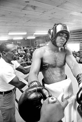 Photograph - Muhammad Ali Sneers After Rubbing by Jan W Faul