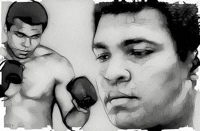 Boxer Digital Art - Muhammad Ali by Tilly Williams