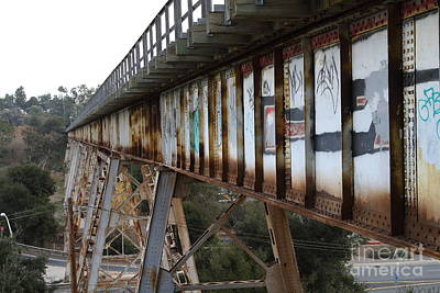 Muir Railroad Trestle In Martinez California . 7d10237 Art Print by Wingsdomain Art and Photography