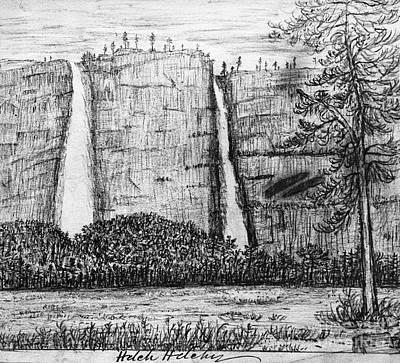 Photograph - Muir: Waterfalls, C1877 by Granger