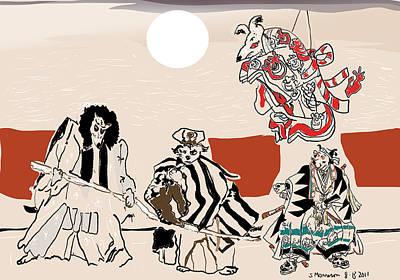 Mukikabuki Theatre Print by Susie Morrison