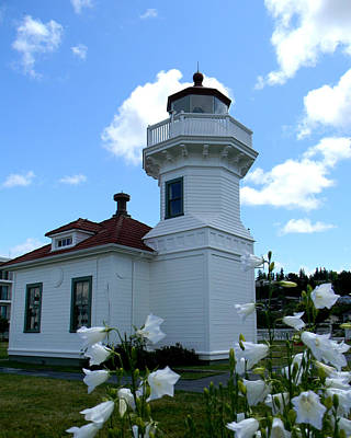 Photograph - Mukilteo Lighthouse Landscaping by Mark J Seefeldt