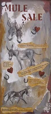 Jackass Painting - Mule Sale by Dina Dargo