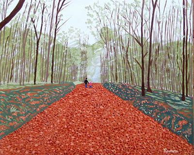 Mullaghmeen Forest In Autumn Time Art Print by Eamon Reilly