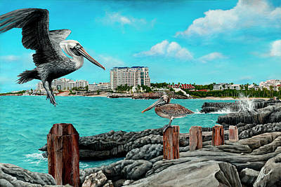 St. Maarten Painting - Mullet Bay by Cindy D Chinn