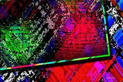 Corner Digital Art - Multi Color Abstract Geometry by Mario Perez