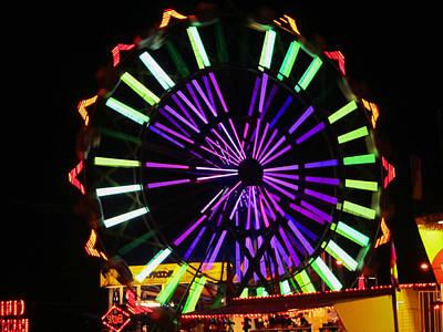 Multi Colored Ferris Wheel Art Print by Kym Backland