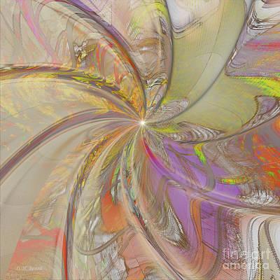 Incendia Digital Art - Multi Colored Pinwheel by Deborah Benoit