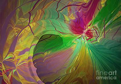 Multi Colored Rainbow Art Print by Deborah Benoit