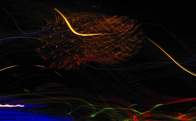 Multi Firework Art Print by Denise Keegan Frawley