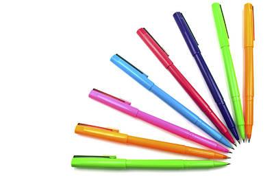 Multicolor Pens. Art Print by Fernando Barozza
