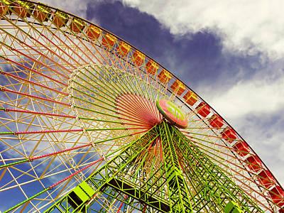 Multicolor Wheel Art Print by Mar Portal del Pozo