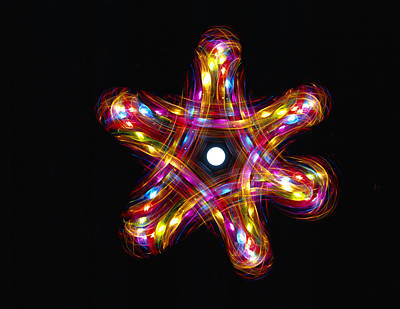 Merkaba Photograph - Multicoloured Lights by Lawrence Lawry