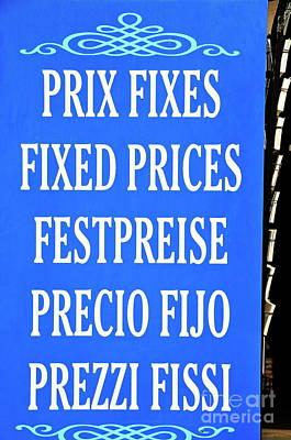 Multilingual No Bargaining Sign Print by Sami Sarkis