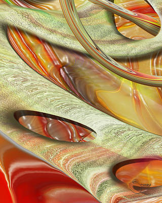 Print featuring the digital art Multiple Air by Steve Sperry