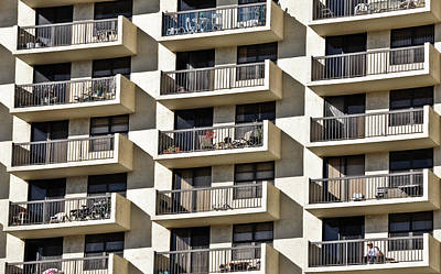Balcony Photograph - Multiple Balconies by Roevin