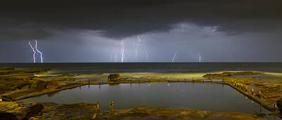 Maroubra Photograph - Multiple Strikes by Mark Lucey