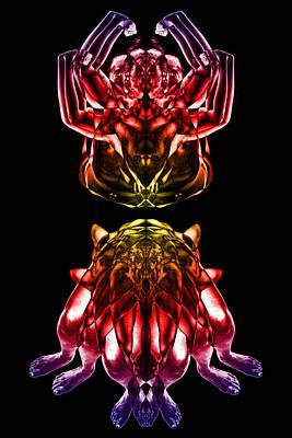 Vivid Colour Digital Art - Multiplicity 1 by David Kleinsasser